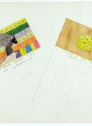 1- Omarian curde flag of Glandelinia 2- Condencian flag of Glandelinia