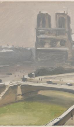 Notre-Dame de Paris sous la neige
