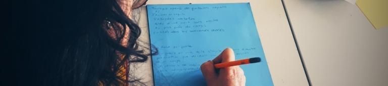 Écrire au musée - dans l'exposition Mohamed Bourouissa, Urban Riders