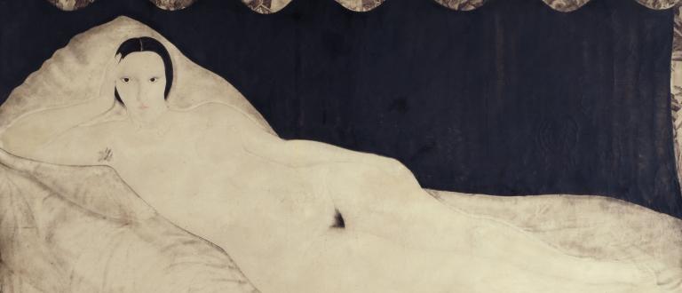 Nu couché à la toile de Jouy