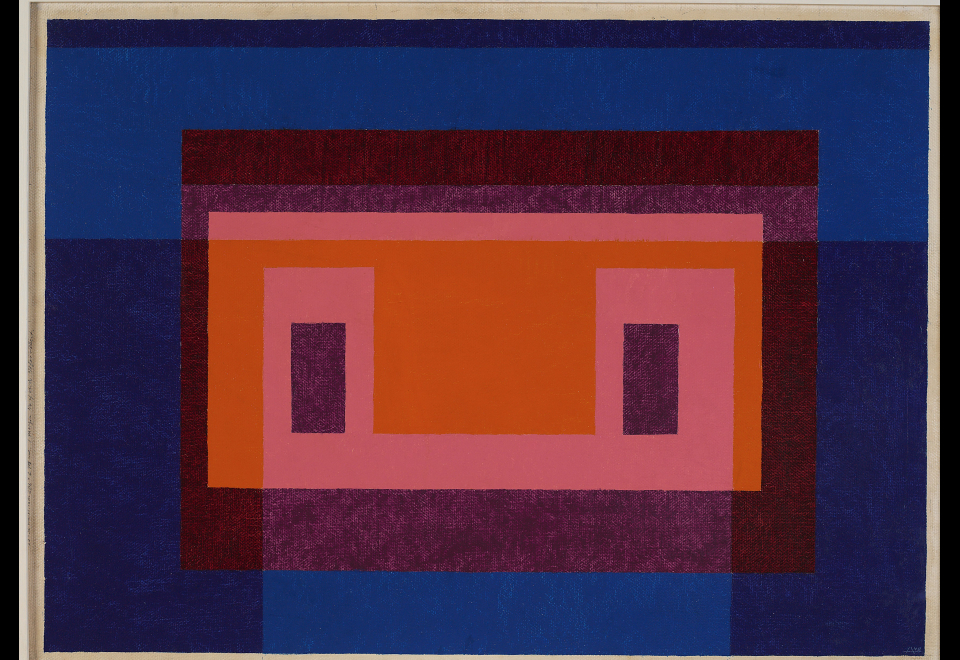 4 Central Warm Colors Surrounded by 2 Blues, 1948