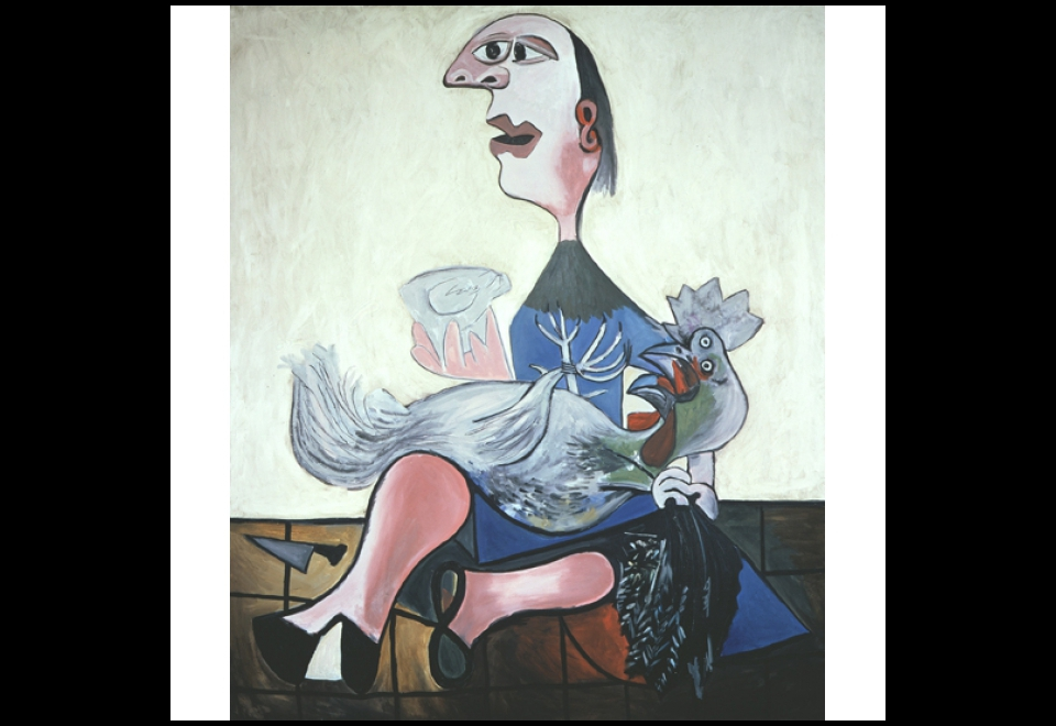 Mike Bidlo, Not Picasso (Girl with cock, 1938)
