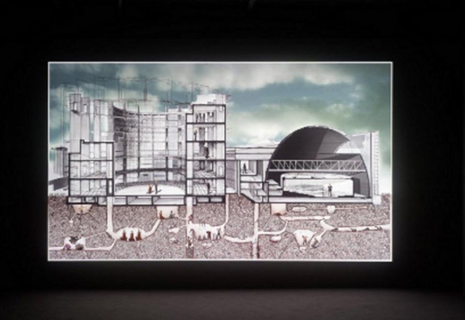 Vue de salle d'exposition