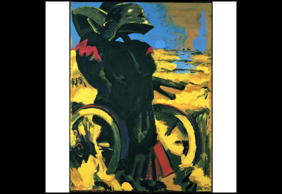 Markus Lüpertz, Schwarz Rot Gold I - dithyrambisch, 1974