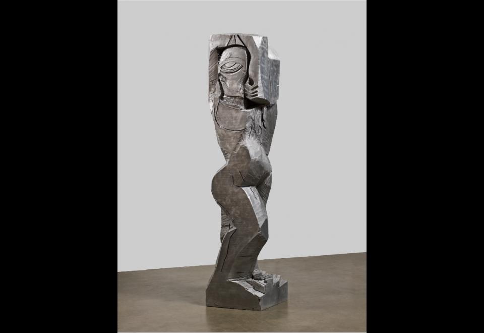 Rattlesnake figure (aluminium)