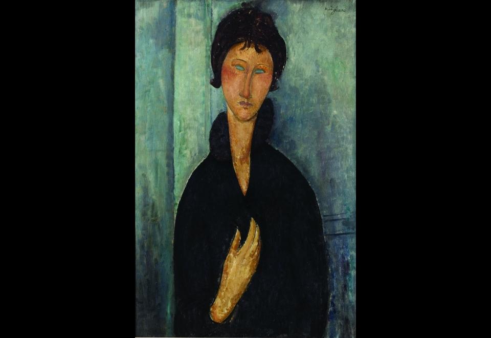 Amedeo MODIGLIANI (1884-1920), Femme aux yeux bleus, vers 1918
