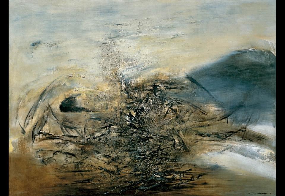 Zao Wou-Ki, <i>Hommage à Edgar Varèse - 25.10.64</i>, 1986